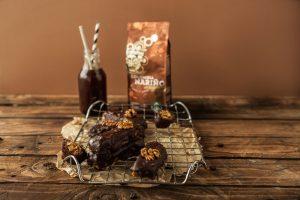 Mamalyga-CZEKOLADOWO – ORZECHOWE BATONY do kawy Starbucks COLOMBIA NARINO-1