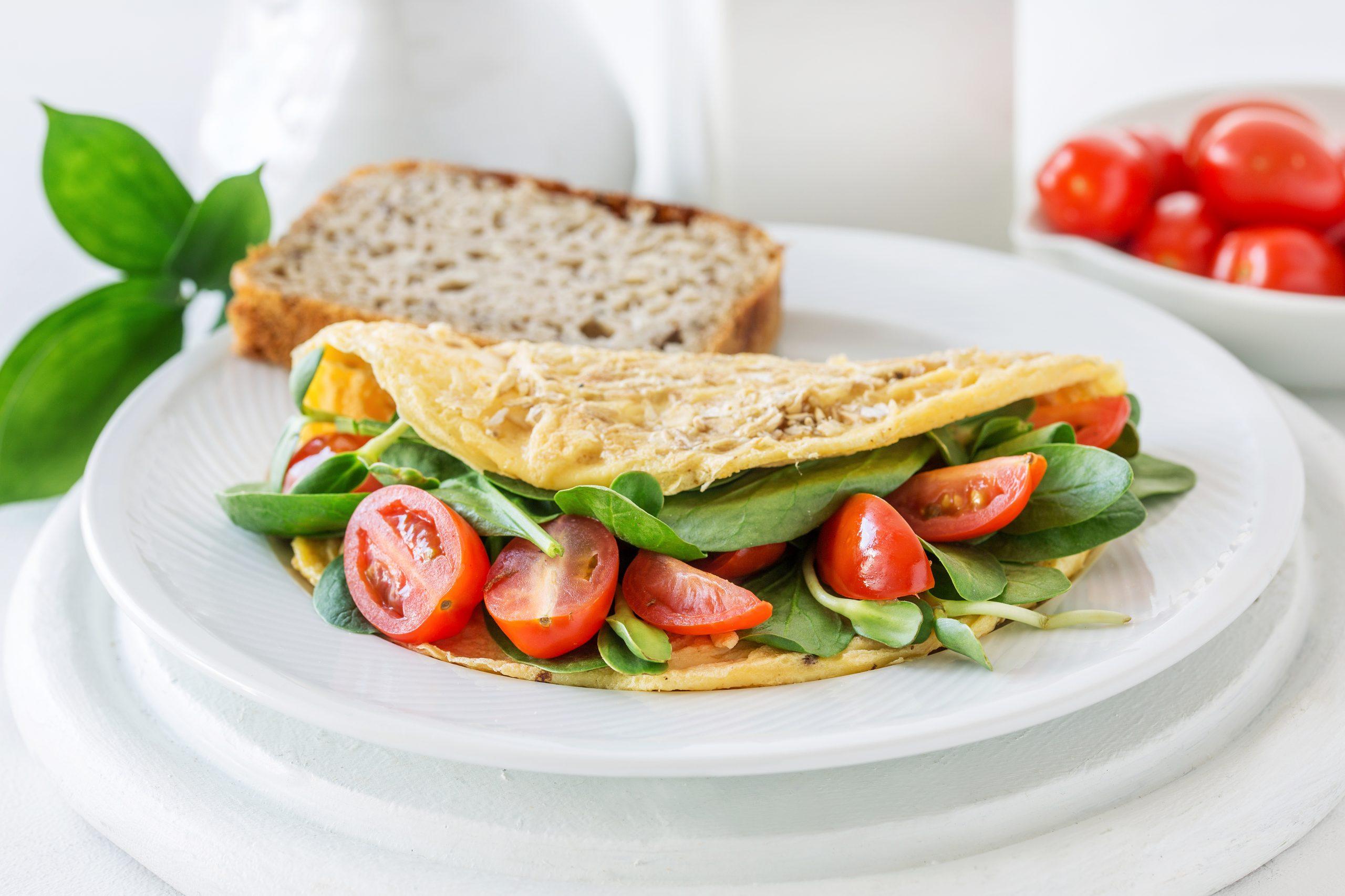 Omlet z otrębami pszennymi