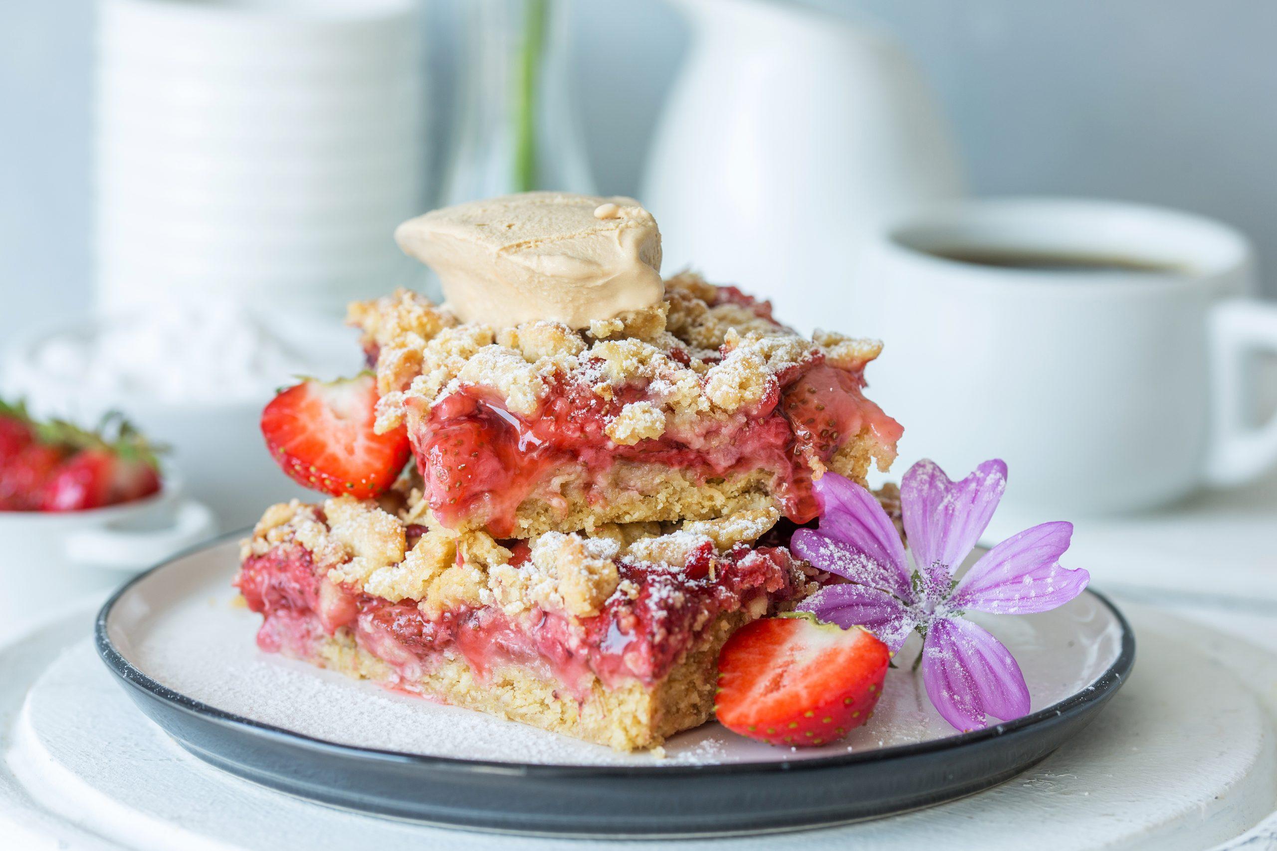 ciasto owsiano - truskawkowe