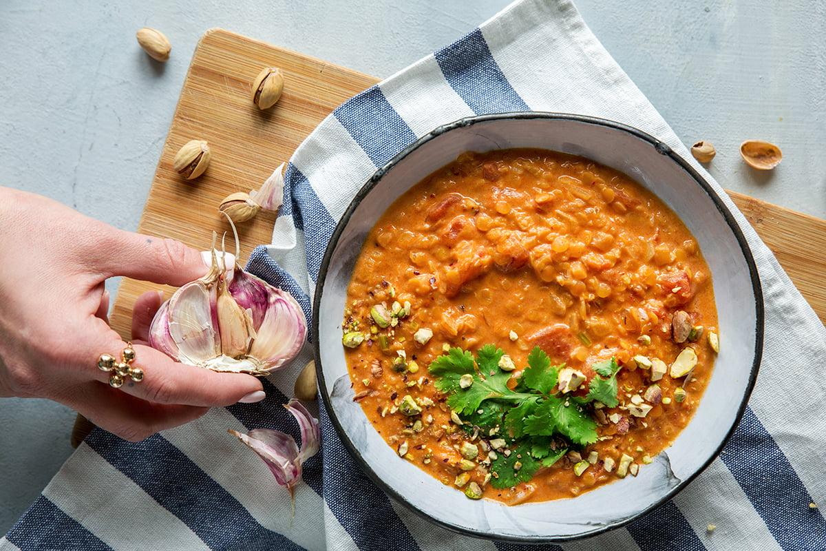 Zupa z soczewicy z mlekiem kokosowym i curry - mamałyga